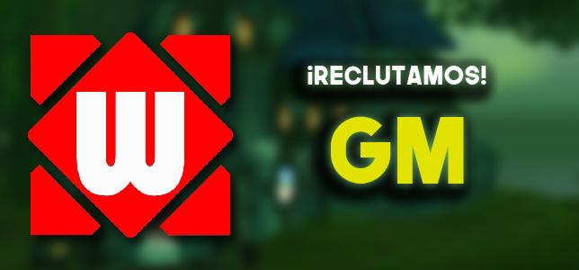 ¡Te buscamos a tí! Convocatoria para GM